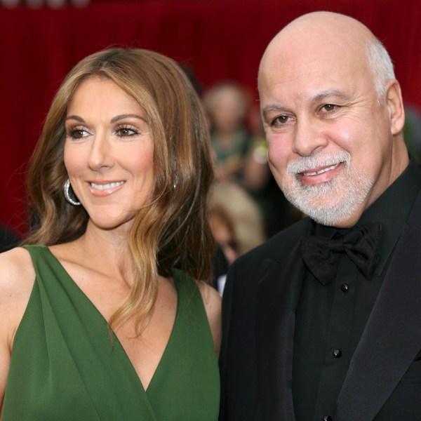 Celine Dion, husband Rene Angelil, Oscars