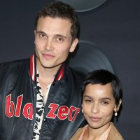 Karl Glusman and Zoe Kravitz