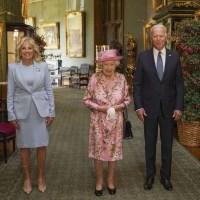 Queen Elizabeth II, Joe Biden, Jill Biden