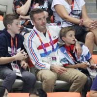 David Beckham, sons Brooklyn Beckham, Romeo Beckham, Olympics