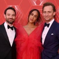 Charlie Cox, Zawe Ashton and Tom Hiddleston