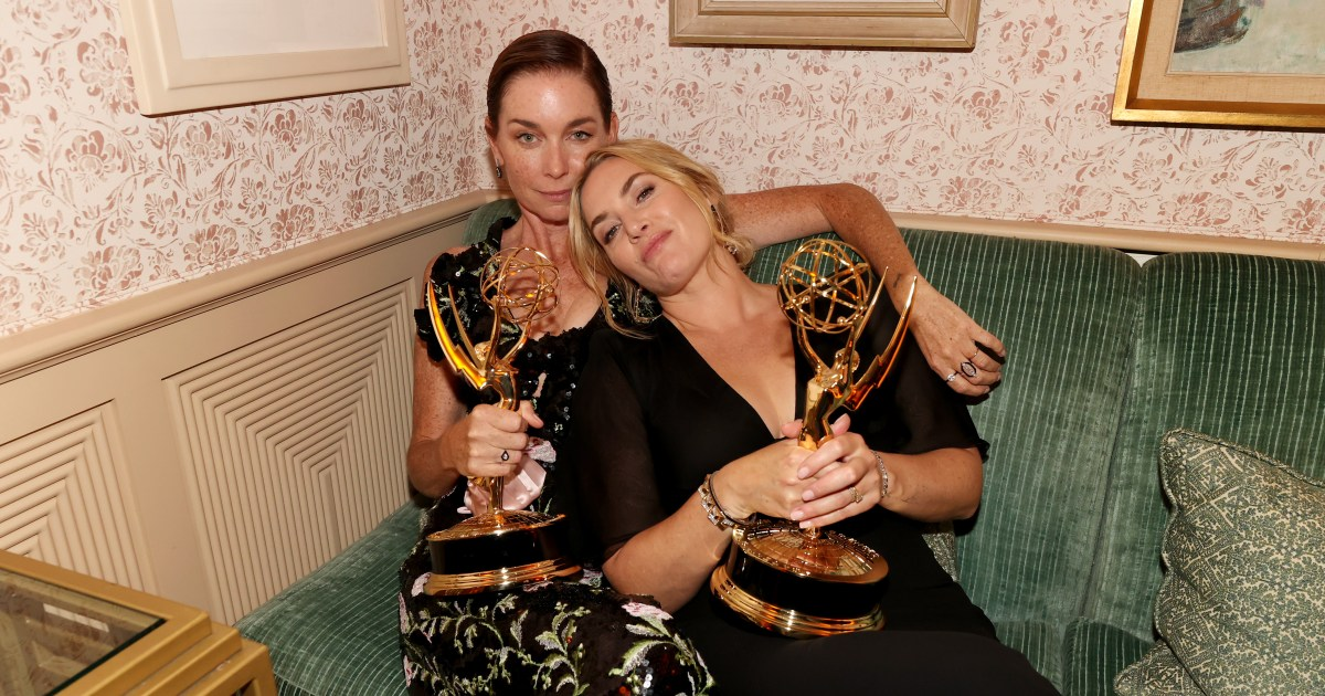 Kate Winslet lounges with her Emmy, more stars attend Primetime Emmy afterparties.jpg