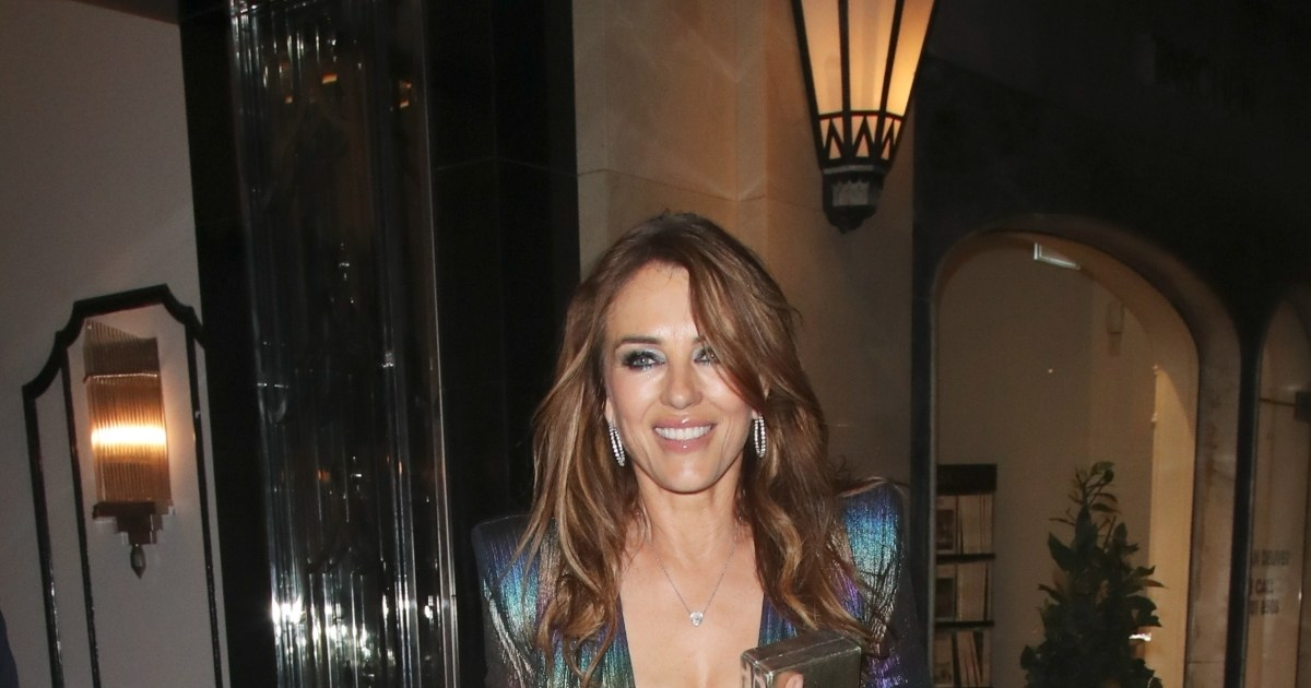 Liz Hurley wears daring dress to pal's London birthday party, more celebrity photos for Sept. 5-11, 2021.jpg