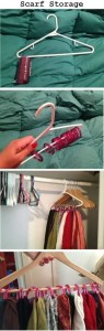 storage solution using a hanger