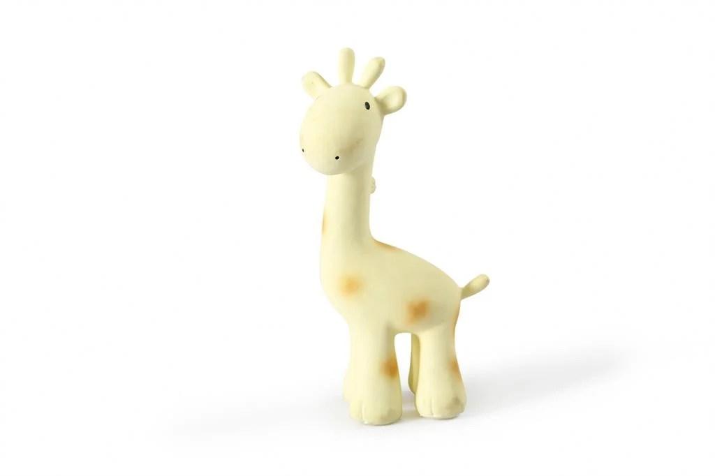 Giraffe van Tikiri zoodiertjes natuurrubber