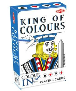 King of colours, speelkaarten zelf in te kleuren