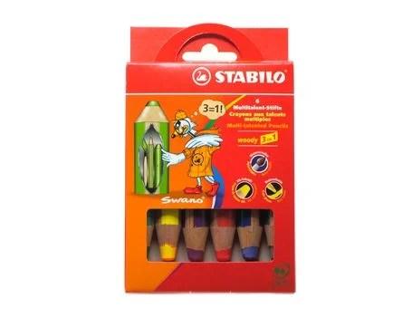 Stabilo- Woody, doos 6 stuks, wonderzolder.nl