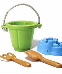 Strandset Green Toys- Zandbak, strandset emmer