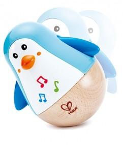 Pinguïn tuimelaar - Hape Penguin musical wobbler