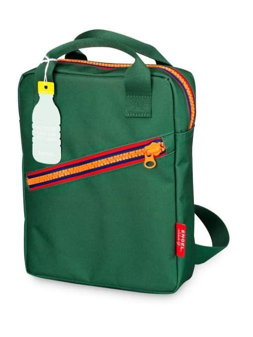 4f5bd24d781 Rugzak small 'Zipper Green' Engelpunt, groen, rugtas-wonderzolder.nl