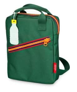 Rugzak small 'Zipper Green' Engelpunt, groen, rugtas-wonderzolder.nl