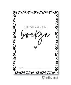 Uitsprakenboekje, uitspraken, MIEKinvorm, wild, wonderzolder.nl