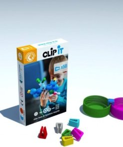 Clip-it Vlinder, plastic doppen speelgoed Clip It -wonderzolder.nl