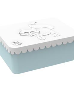 Lunchbox klein Vosje Lichtblauw / Wit, Blafre, broodtrommel -wonderzolder.nl