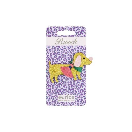 Glitter Broche RICE Hond