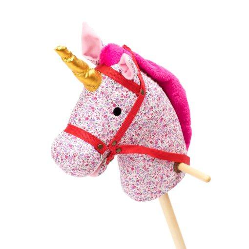 stokpaard roze eenhoorn -wonderzolder.nl