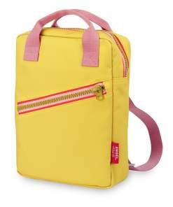 Rugzak small 'Zipper Yellow' Engelpunt, geel, rugtas-wonderzolder.nl