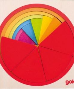 puzzel cirkel Goki, leer breuken te maken met deze puzzel -wonderzolder.nl