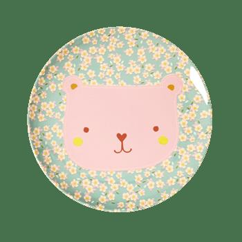 Lunch plate animal print Bear, RICE, Melamine, wonderzolder.nl