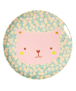 Lunch plate animal print Bear, RICE, Melamine, wonderzolder.nl