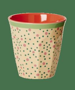 Melamine cup Dots, beker stippen Rice -wonderzolder.nl