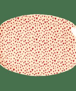 Rectangular plate Heart, hartjes bord RICE-wonderzolder.nl