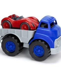 Vrachtwagen met auto Green Toys-wonderzolder.nl