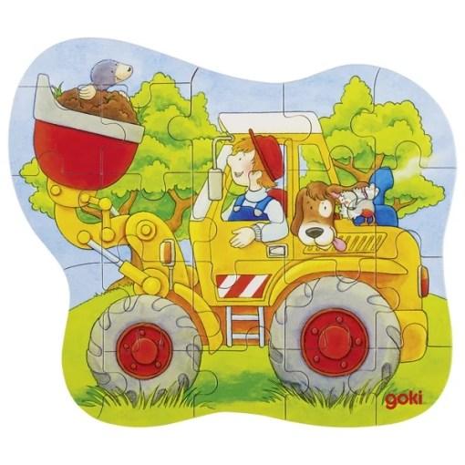 Mini puzzel shovel Goki, wonderzolder.nl