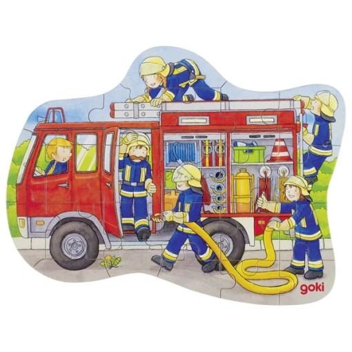 Mini puzzel brandweer Goki, wonderzolder.nl