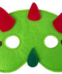 Licht groen, Dino, Vilten dino masker, Global affairs, wonderzolder.nl