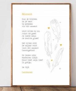 Moment, kaart, gedicht, lentezoet, wonderzolder.nl
