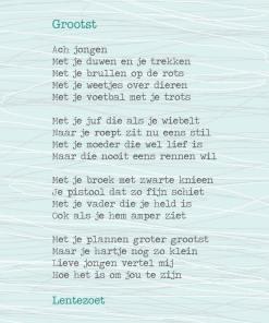 Groots, gedicht, lentezoet, kaart, wonderzolder.nl