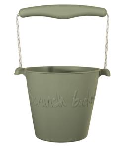 Scrunch bucket misty grey, opvouwbare emmer, wonderzolder.nl
