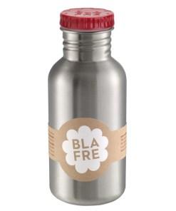 Steel bottle 500 ml red, RVS Fles, van Blafre, wonderzolder.nl