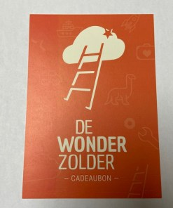 cadeaubon, persoonlijk cadeau, cadeau met code, wonderzolder.nl