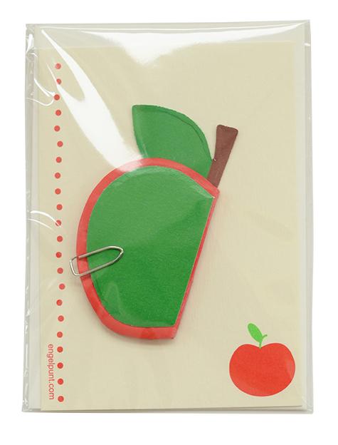 Kaartje 'Apple', Engelpunt, Engel., kaartje, beterschap, wonderzolder.nl