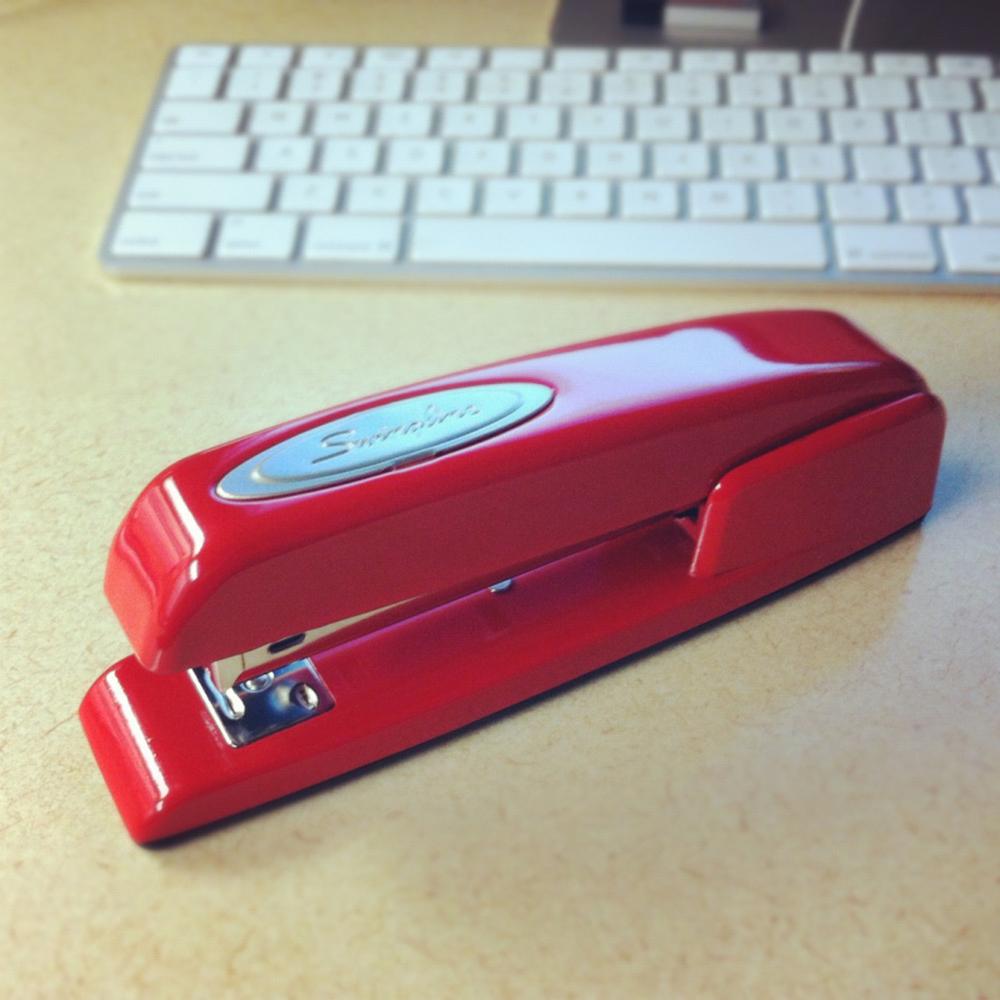 red-stapler