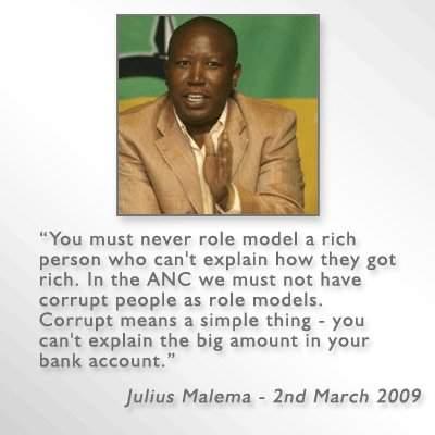 Julius Malema corruption photo