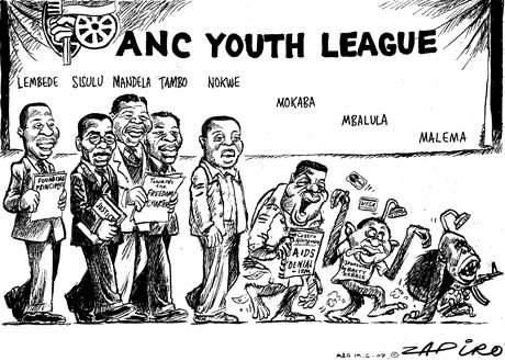 Zapiro Malema evolution cartoon