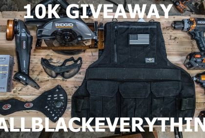 10K Subscriber Giveaway – RIDGID, Atlas46, RZ Mask, & ISOTunes