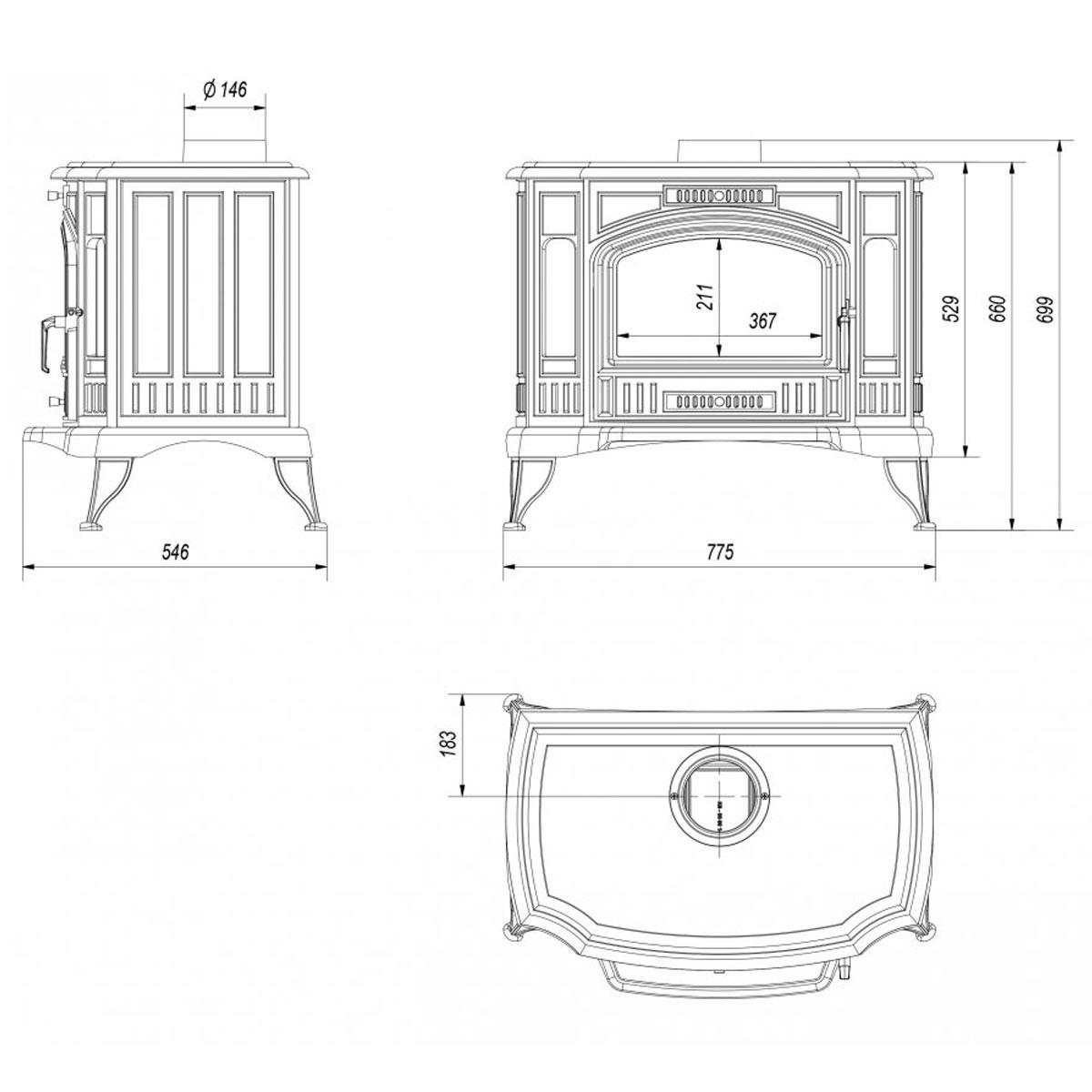 Kratki Poland Wood Stove Water Heater Koza K9 150 Pw W