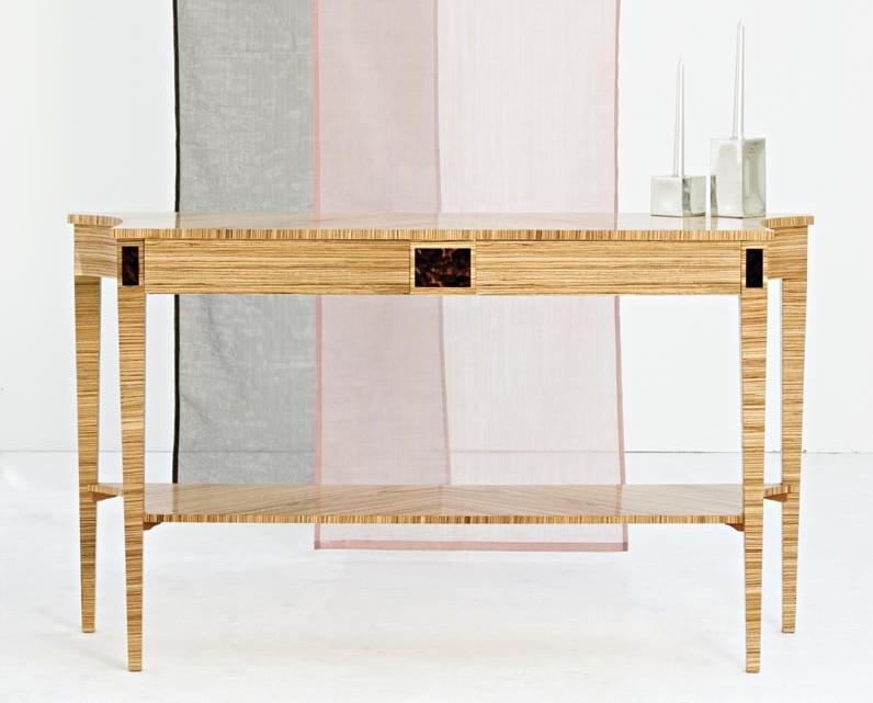 Zebrano Console Table