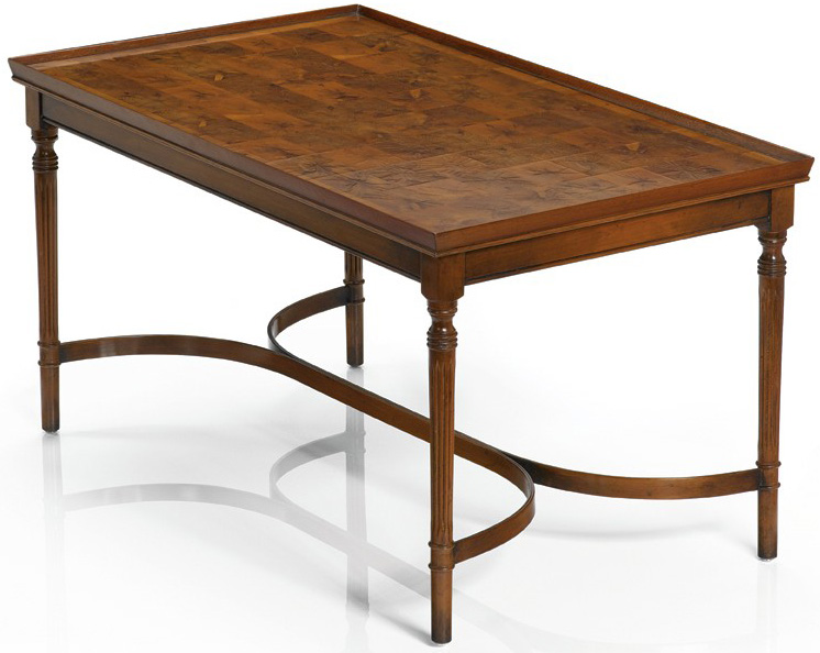 Oyster Yew wood Regency Style Coffee Table.