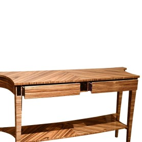 37024Z Zebrano Side Table - Drawers