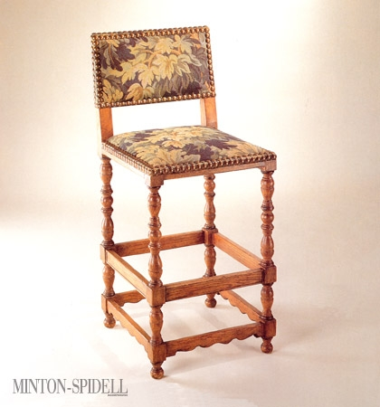 Jacobean Bar or Counter Stool