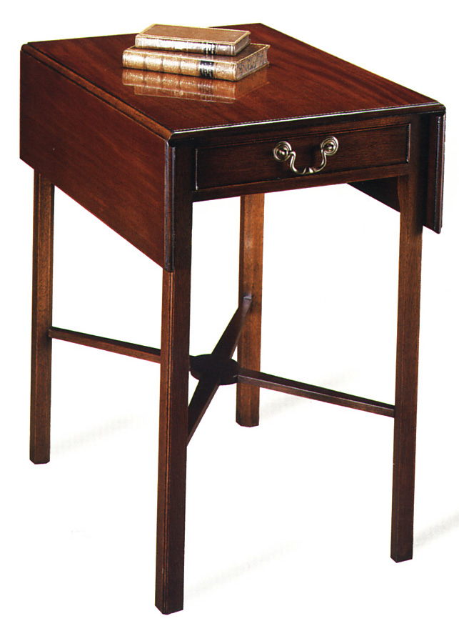 Country Chippendale Style Pembroke Table.