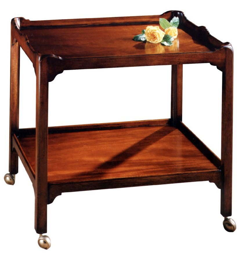 Chippendale Style Mahogany Two Tier Trolley.