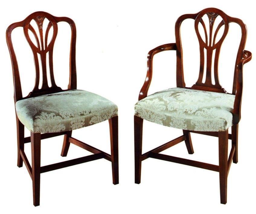 Mahogany Hepplewhite Style Chair.
