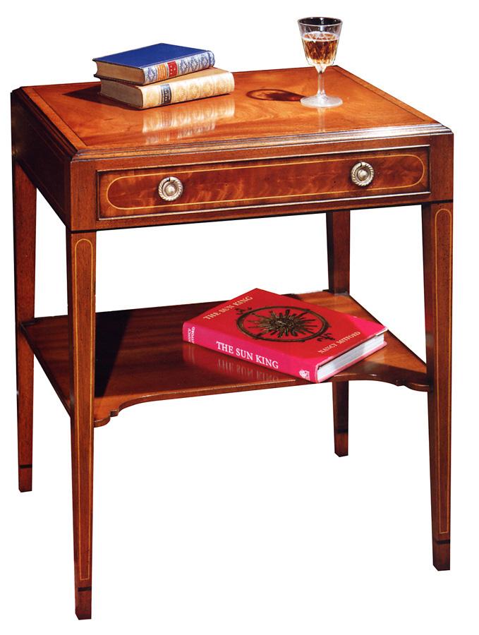 Mahogany Sheraton Style End Table.