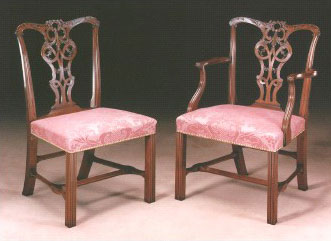 Carved Mahogany Chair in the